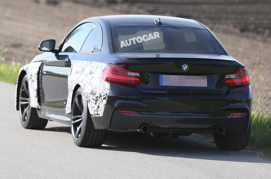 BMW M2 coupe spotted testing for the first time