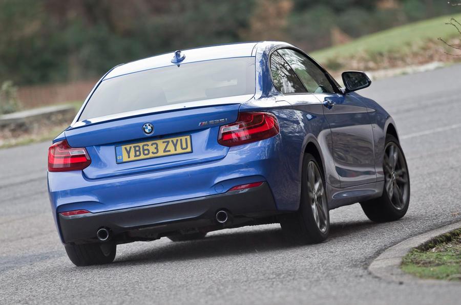 BMW M235i rear cornering