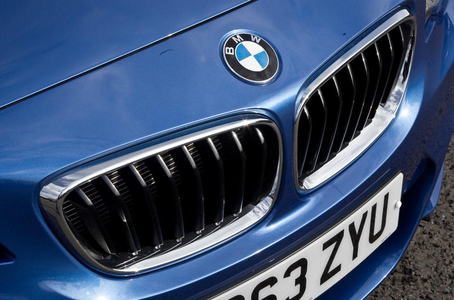 BMW M240i's front grille