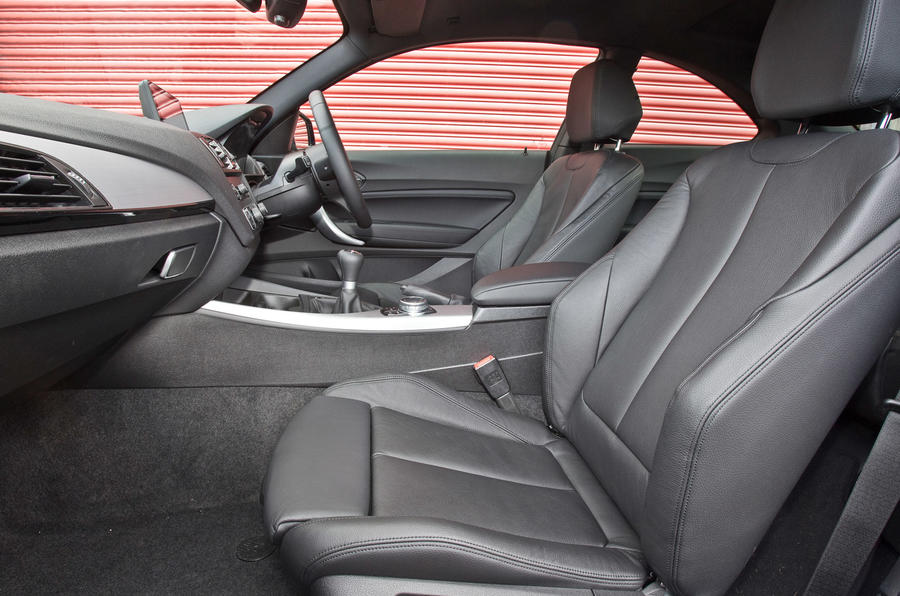 BMW M240i front seats