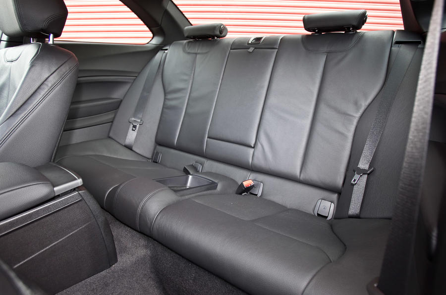 BMW M235i's rear seats
