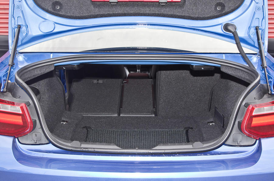 BMW M240i's boot space