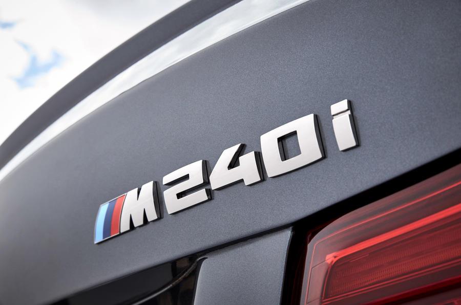 BMW M240i badging