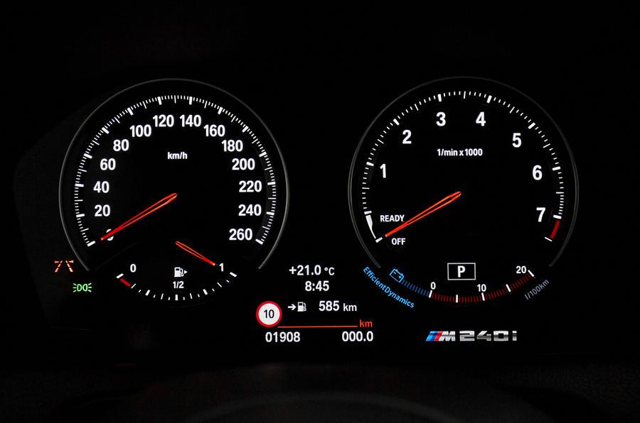 BMW M240i instrument cluster
