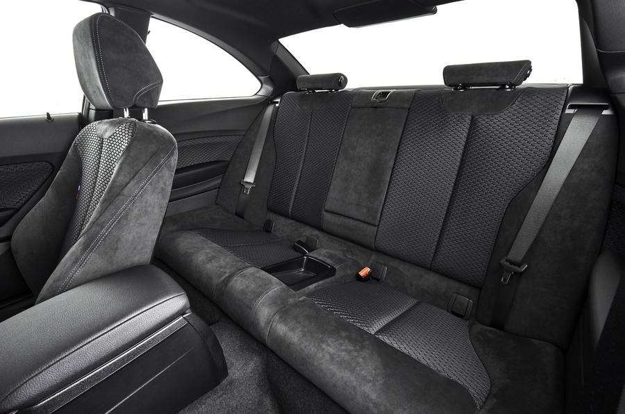 BMW M240i rear seats