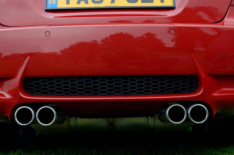 BMW M3 quad exhaust system