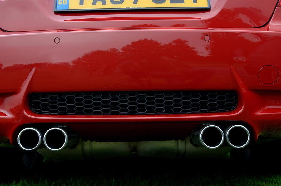 BMW M3 quad exhaust system