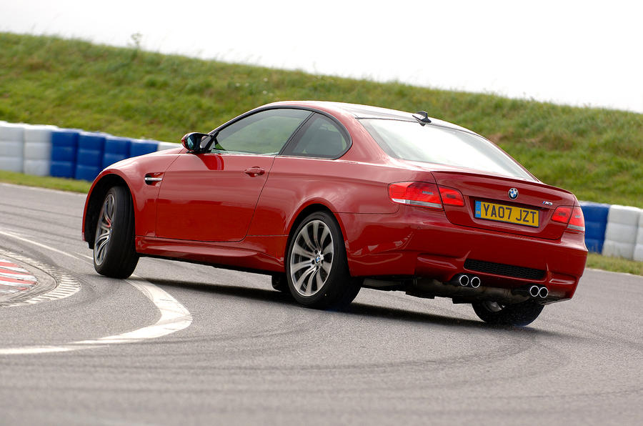 BMW M3 hard rear cornering