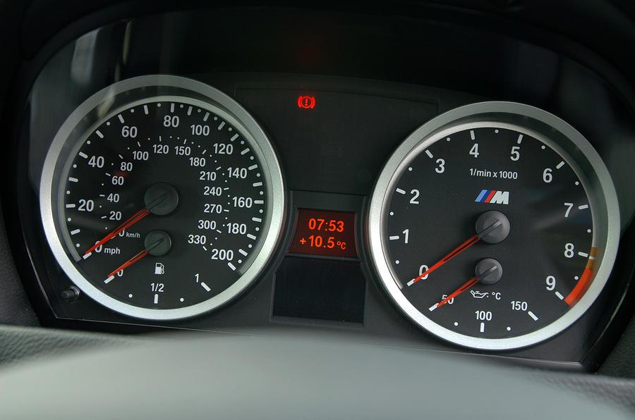 BMW M3 instrument cluster