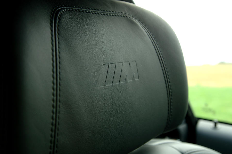 BMW M3 stitched leather seats