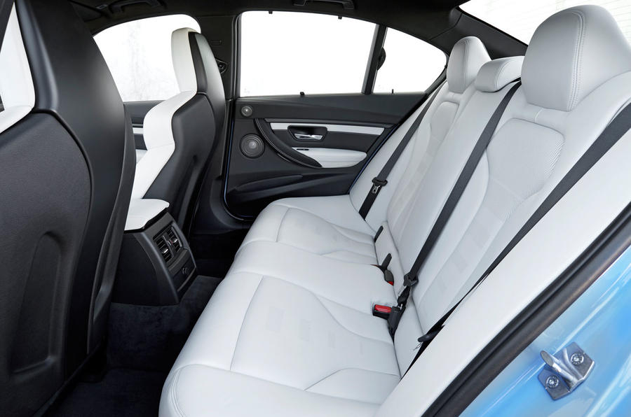 BMW M3's rear seats
