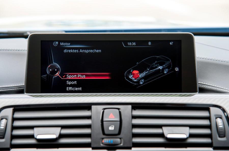 BMW M3 iDrive infotainment system