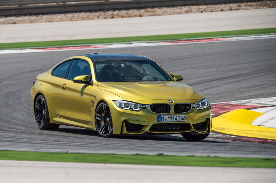 BMW M4 hard cornering