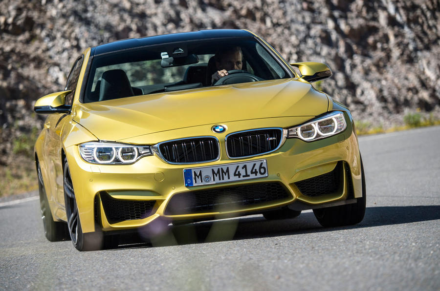 BMW M4 cornering hard