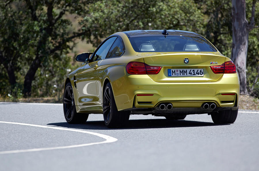 BMW M4 rear cornering