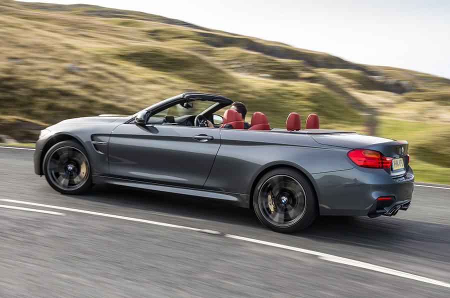 Roof-down BMW M4 Convertible