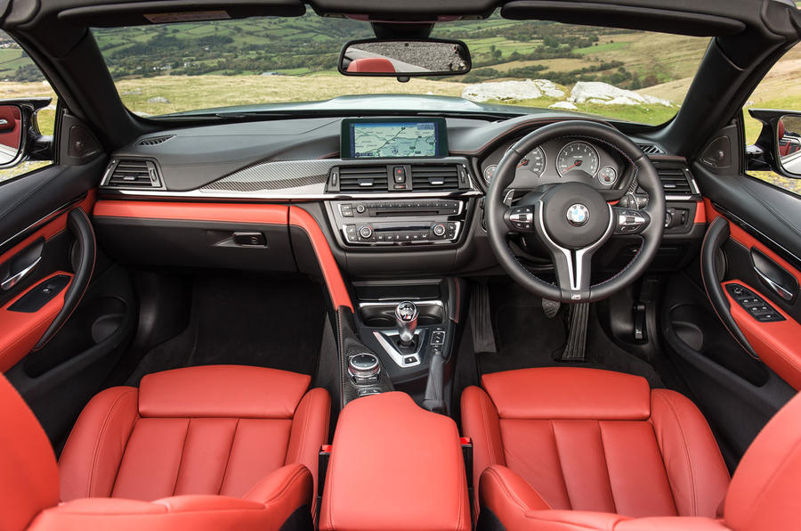 Bmw m4 convertible review 2017 autocar for White bmw with red interior for sale