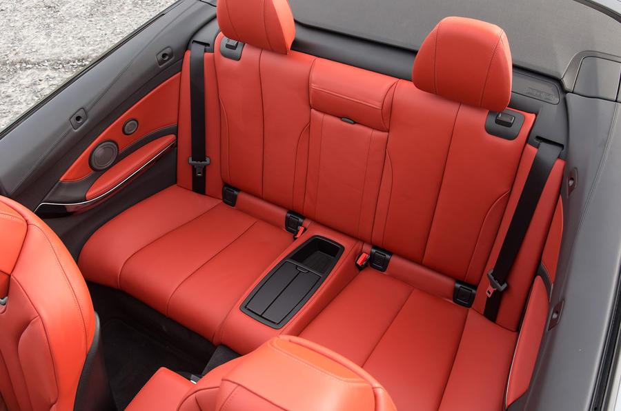 BMW M4 Convertible rear seats