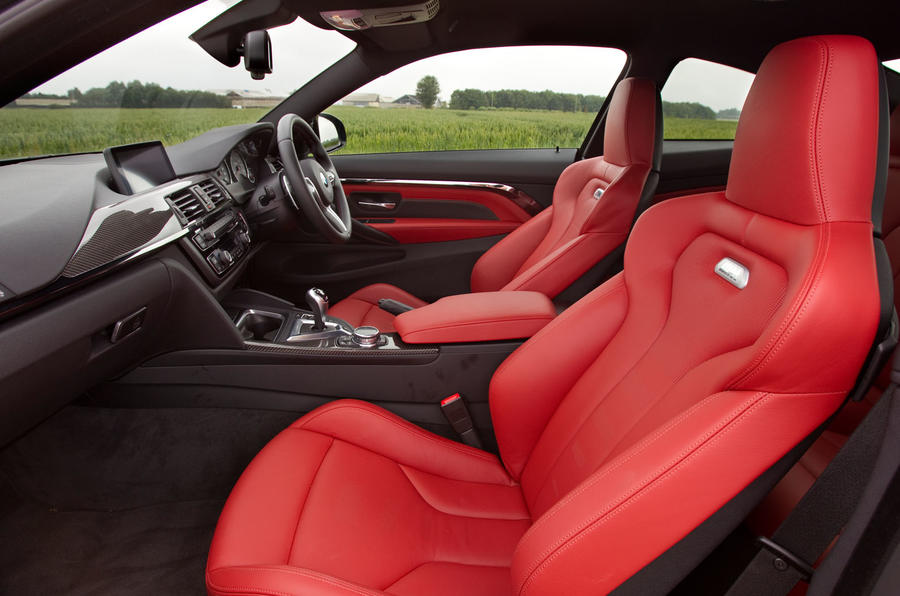 BMW M4 front seats