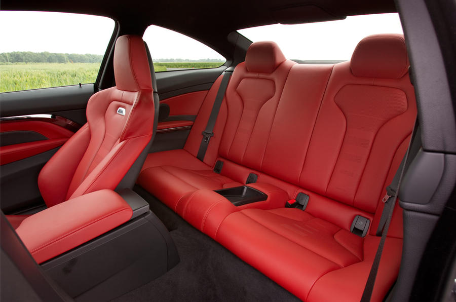BMW M4 rear seats