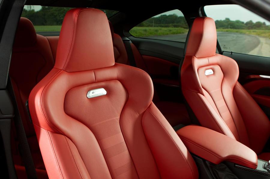 BMW M4 badged sport seats