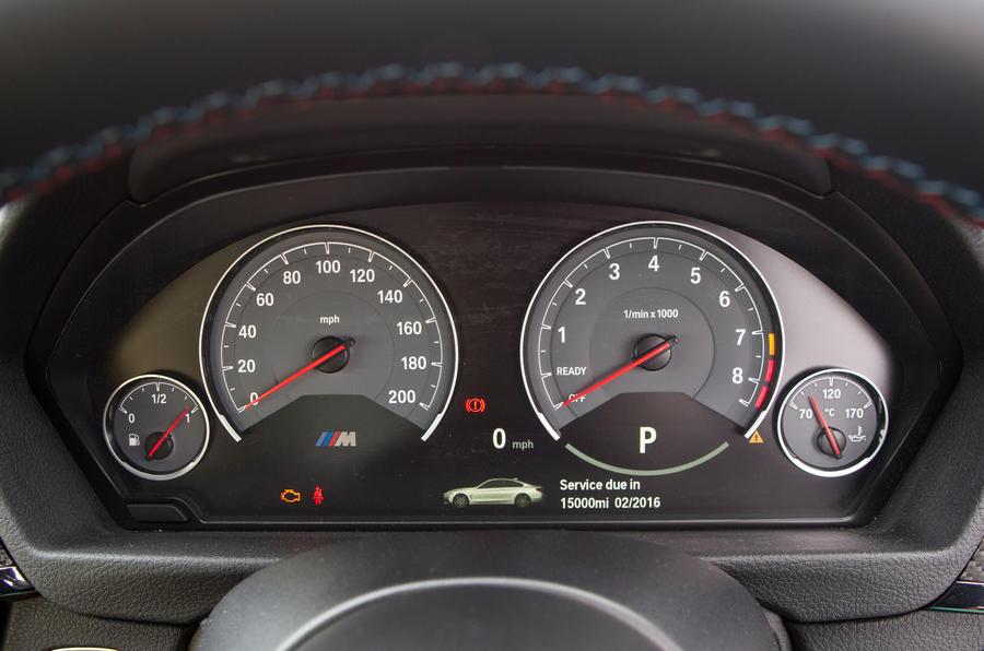 BMW M4 instrument cluster