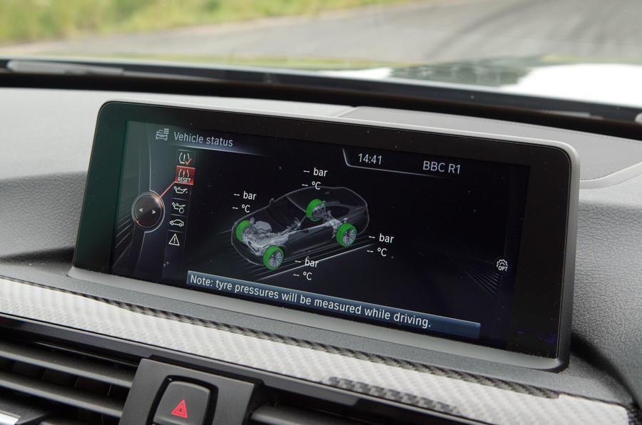 BMW M4 iDrive infotainment system