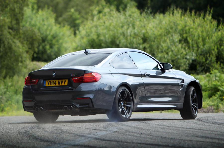 BMW M4 cornering