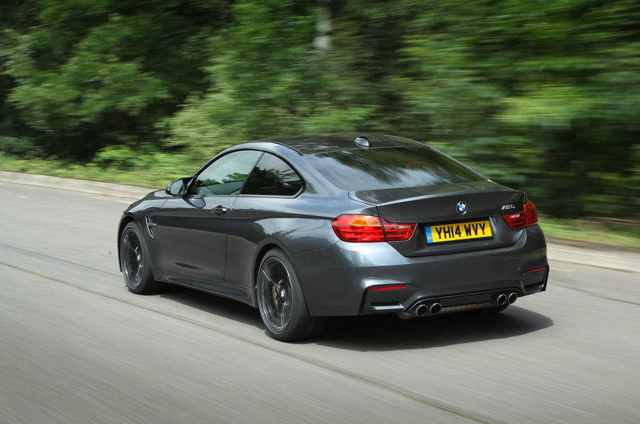 the bmw s engine drives the rear wheels via a six speed manual or a