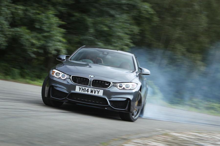 BMW M4 hard cornering