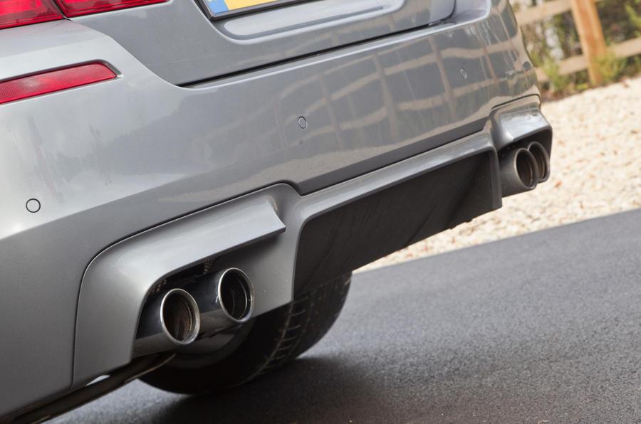 BMW M5's quad exhaust system