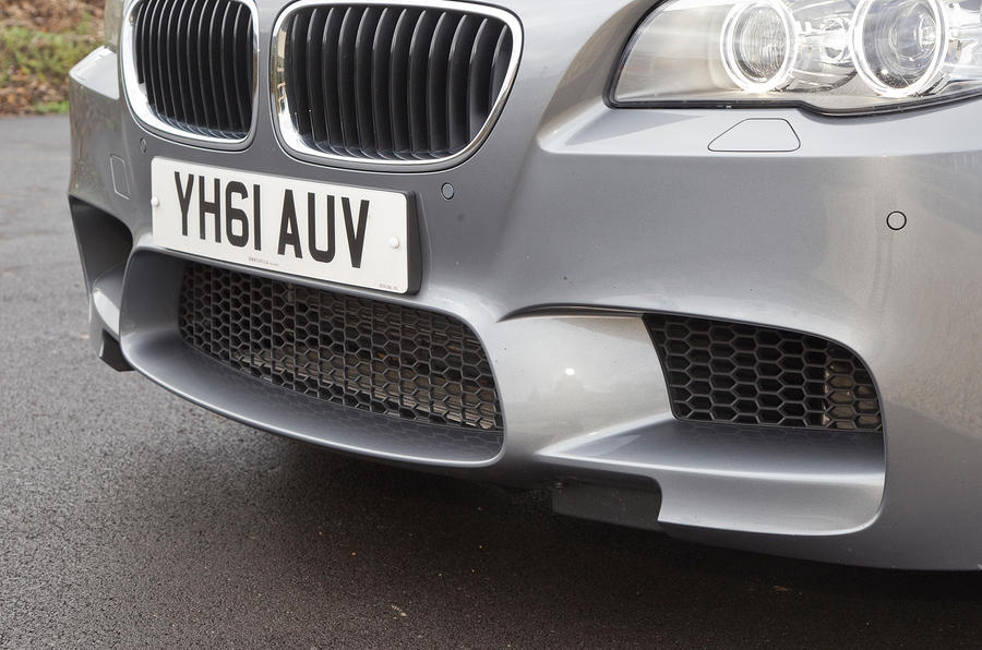 BMW M5's vast air intakes