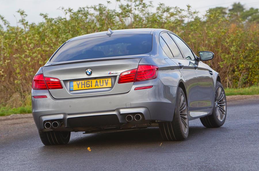 BMW M5 rear cornering