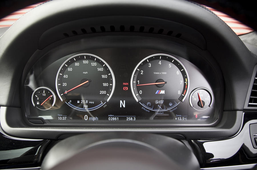 BMW M5 Competition Pack instrument cluster