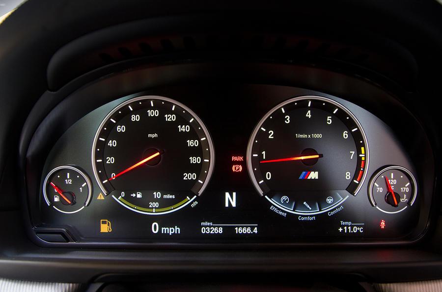 BMW M5 instrument cluster