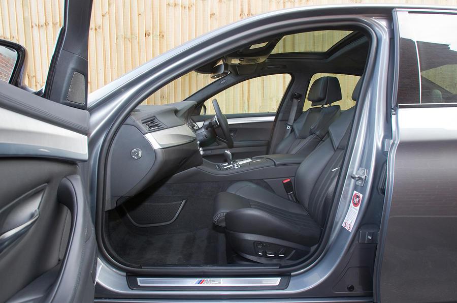 BMW M5 front seats