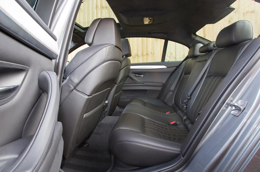 BMW M5 rear seats