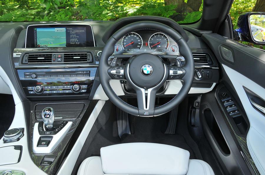 BMW M6 Convertible's interior