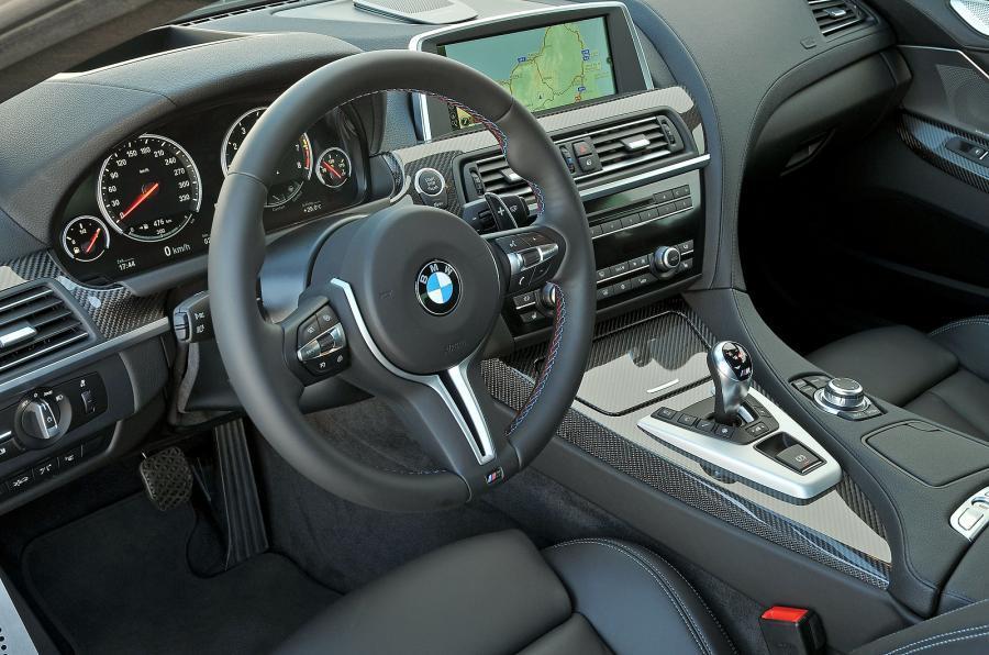 BMW M6's steering wheel