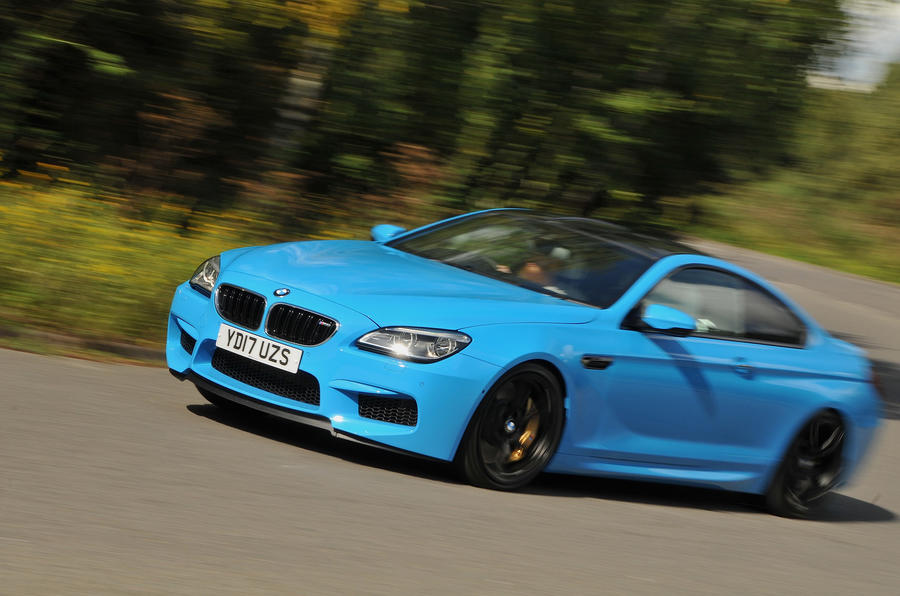 BMW M6 hard cornering