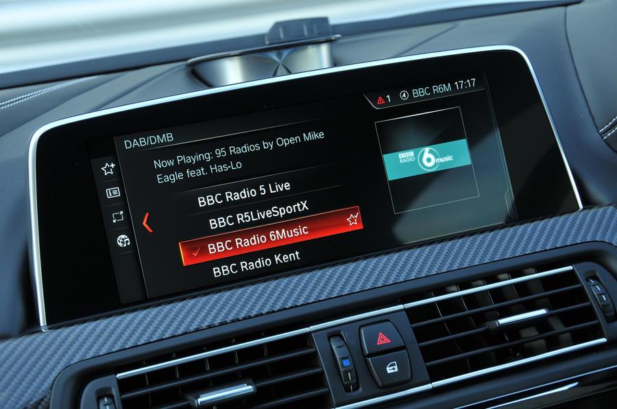 BMW M6 iDrive infotainment system