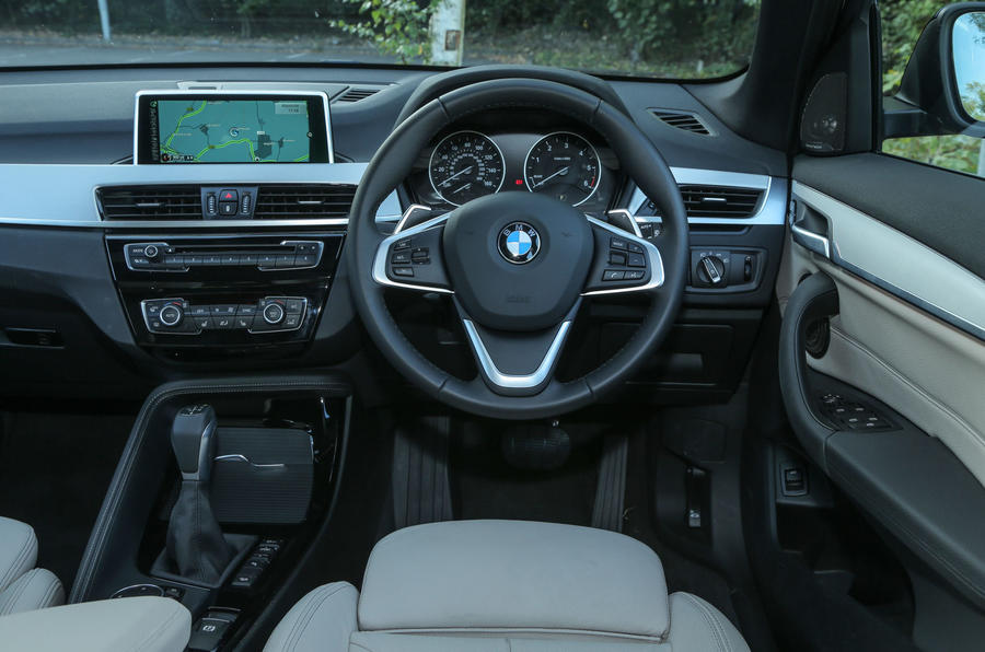 The view from the driver's seat on the BMW X1
