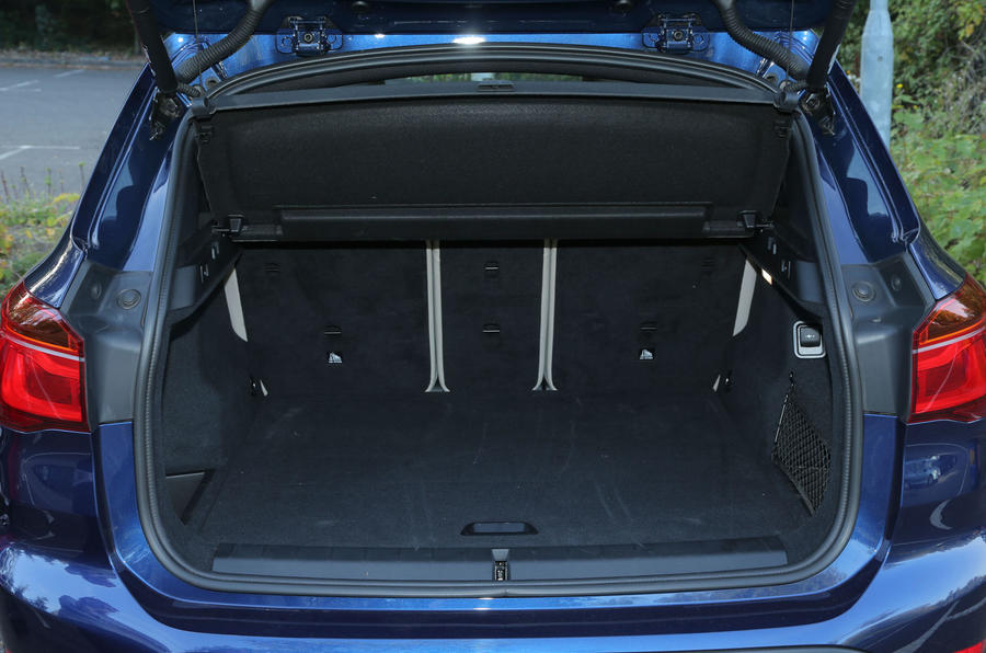 The wide and deep boot opening on the BMW X1