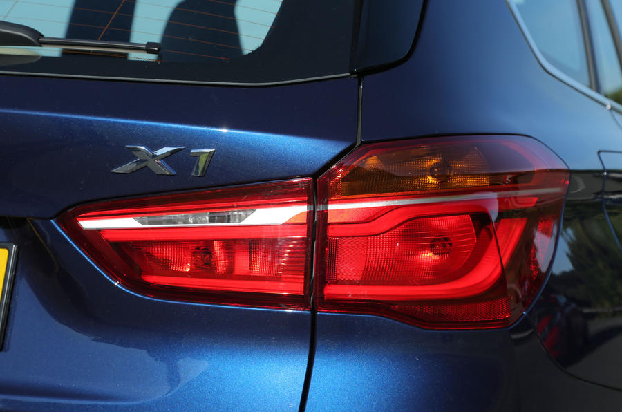 The LED tail lights on the BMW X1 illuminate in a line to make the car appear wider