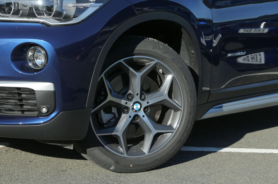 The BMW X1 range starts with 17in alloys, with 18s standard on the xLine cars, while 19s