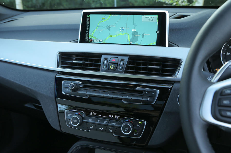 The excellent iDrive system fitted as standard in the BMW X1