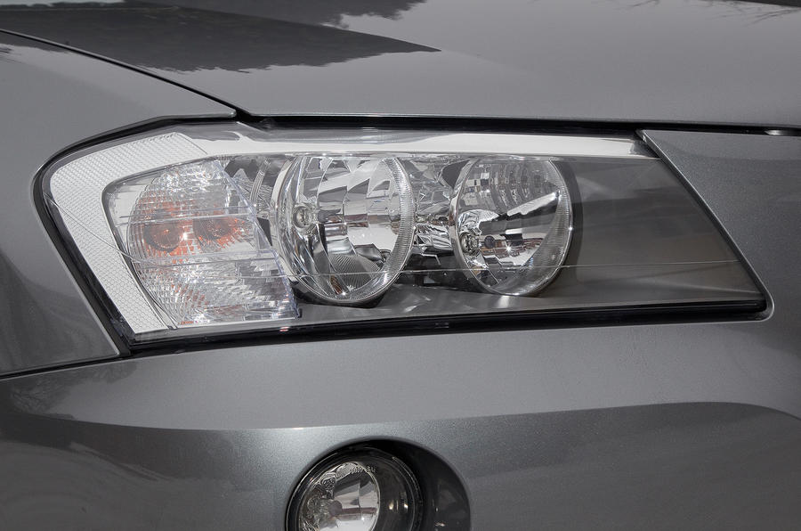 BMW X3 headlights