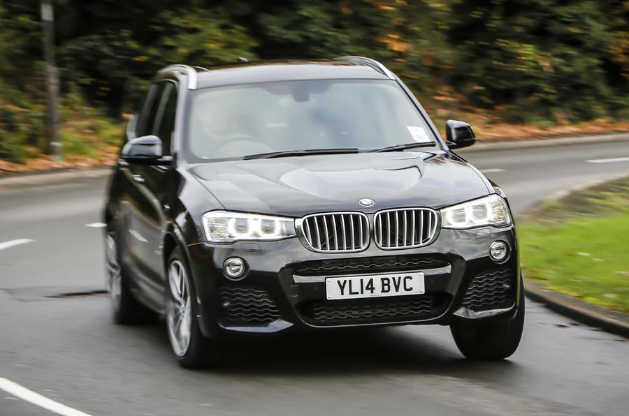 BMW X3 xDrive35d M Sport cornering