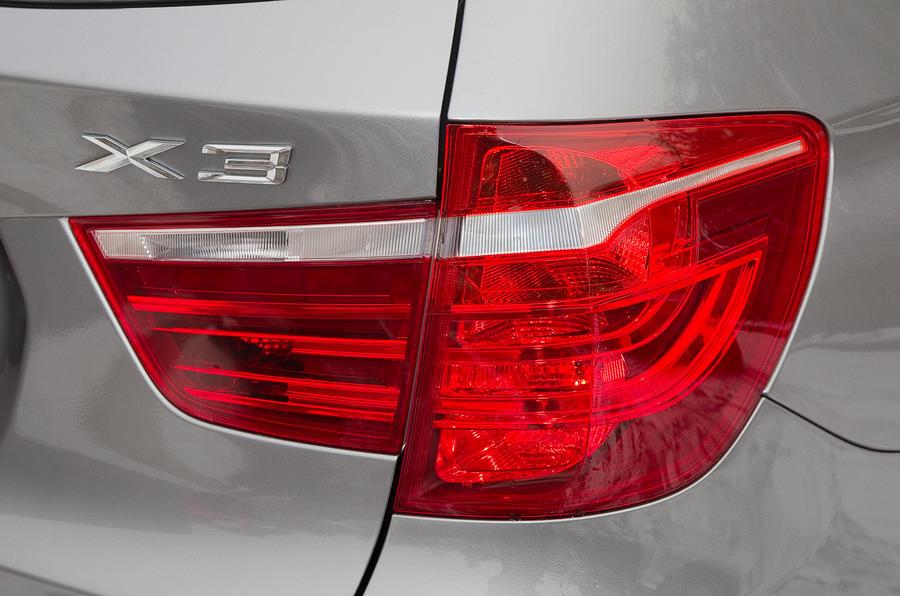BMW X3's rear LED lights