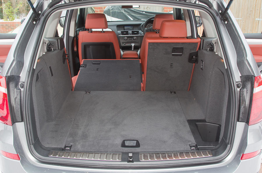 BMW X3 rear boot space